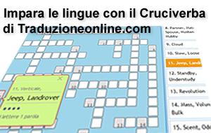 Il cruciverba gratuito per imparare le lingue