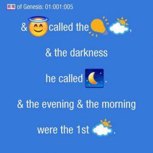 La Sacra Bibbia con emoji