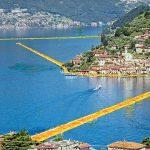 Floating Piers: La passerella sul lago d'iseo.